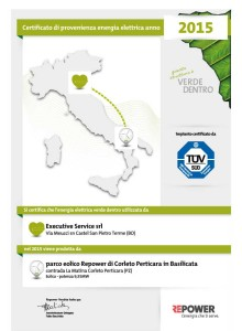 Certificazione RePower Provenienza Energetica - 2015