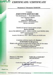Conforme allo Standard ECOENERGY di Bioagricoop - 2016