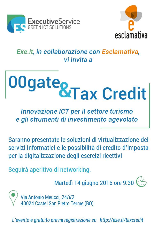 00gate & Tax credit 14 giugno 2016