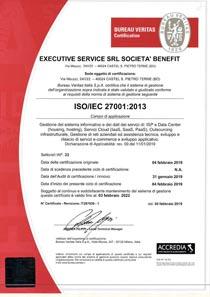 SISTEMA DI GESTIONE INTEGRATO - ISO 27001